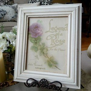 SHABBY Chippy FRAMED Vintage SONG Sheet